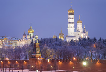 Night Moscow. The Kremlin at night
