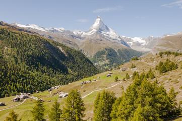 Zermatt, Bergdorf, Walliser Alpen, Sunnegga, Alm, Schweiz