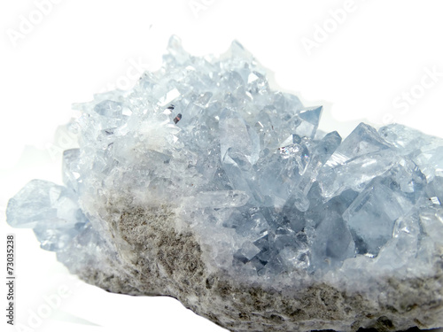 canvas print picture celestite geode geological crystals