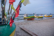 Fishing boats on Baltic Sea beach in Karlikowo, Sopot, Poland - 73035485