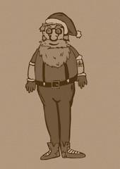 Santa Claus hipster vintage