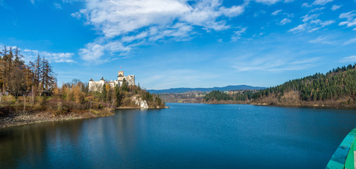 Medieval Dunajec castle in Poland