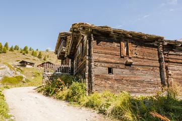 Zermatt, Bergdorf, Walliser Berge, Alpen, Alm, Sommer, Schweiz