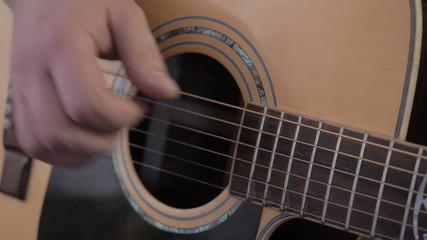 Guitarist. Playing guitar.