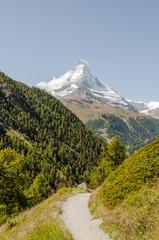 Zermatt, Bergdorf, Findeln, Wanderweg, Wallis, Schweizer Alpen