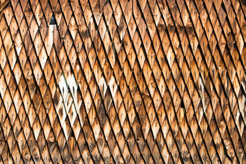 Wooden shingle surface