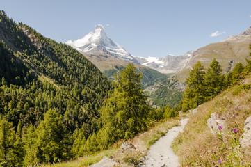 Zermatt, Dorf, Wanderweg, Alpen, Walliser Berge, Schweiz