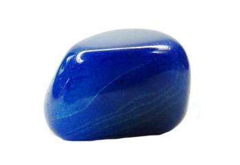 blue agate geological mineral crystal