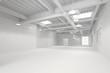 canvas print picture - Weiße große saubere Halle