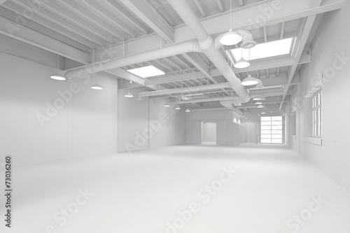 canvas print picture Weiße große saubere Halle