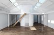 canvas print picture - Leeres Dachgeschoss ausbauen im Haus