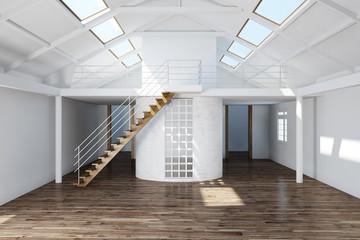 Leeres Dachgeschoss ausbauen im Haus