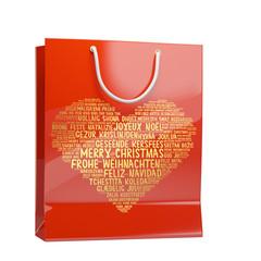 Rote Shopping Tasche zu Weihnachten