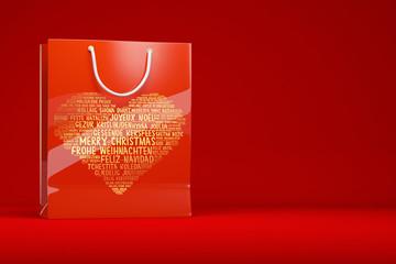 Einkaufstasche mit Motiv für Weihnachten