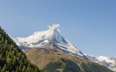 Zermatt, Bergdorf, Walliser Alpen, Schweizer Berge