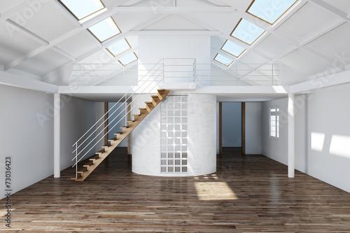 canvas print picture Leeres Dachgeschoss ausbauen im Haus