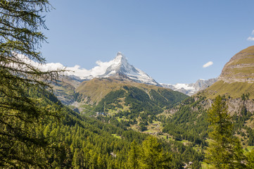 Zermatt, Bergdorf, Walliser Berge, Alpen, Findeln, Schweiz