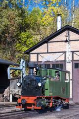 steam locomotive, Johstadt, Germany