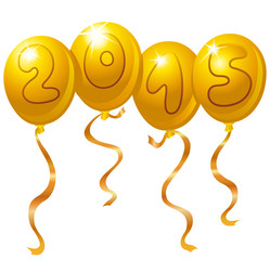 2015 new year balloons