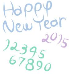 HAPPYNEWYEAR2015/手書きフォント