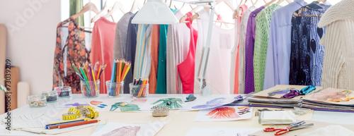 Leinwandbild Motiv Fashion designer studio
