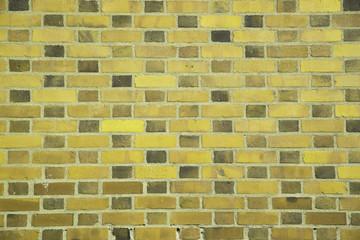 Yellow standard brick wall (background, wallpaper, bricks)