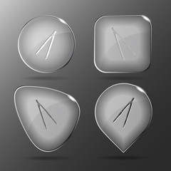Caliper. Glass buttons. Vector illustration.
