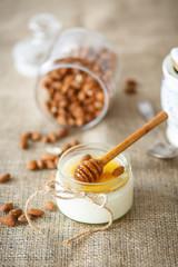 homemade yogurt with honey and nuts