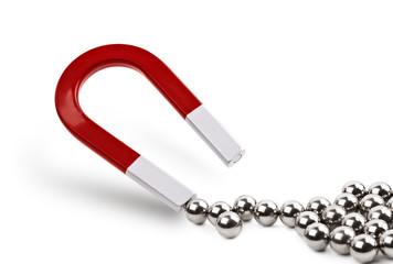 Magnet attracting chrome balls