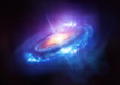 A Colourful Spiral Galaxy in Deep Space - 73040890