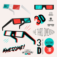 3D Cinema Retro Glasses Collection