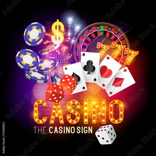 Zdjęcia na płótnie, fototapety, obrazy : Casino Party Vector