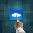 index finger touching cloud app icon
