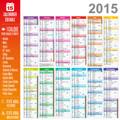 Calendrier 2015 - Multicalques