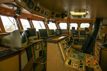 Salle contrôle navire