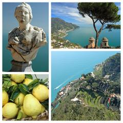 Ravello collage - pearl of Amalfi Coast