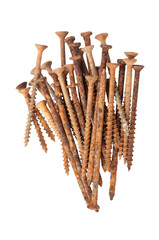 Group of Rusty Old Rusted Screws And Nails