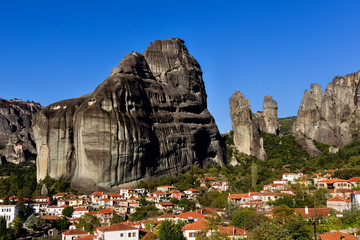 Kastaraki of Meteora, in Greece. The village of Kastaraki locate