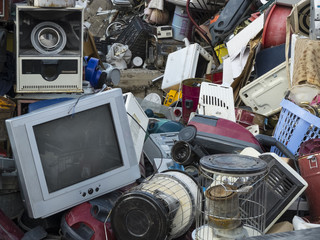 Waste, old technology dump