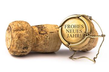 Champagnerkorken - Frohes neues Jahr!