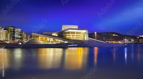Leinwanddruck Bild Oslo Opera House or Norwegian National Opera and Ballet, Norway.