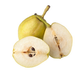Two Asian pears isolated on white background