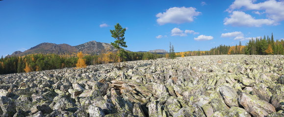 The mountains of the Southern Urals.