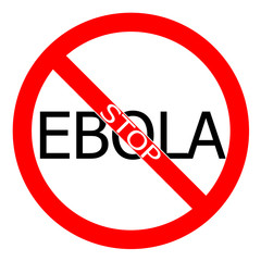 Stop ebola virus sign