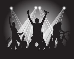 heavy metal musicians silhoutte