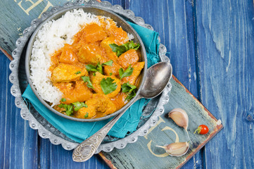 Pumpkin curry with chicken