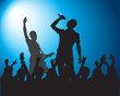 Rock.Silhouettes of musicians - 73043860