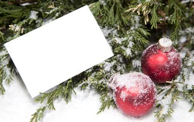 carte de Noël publicité