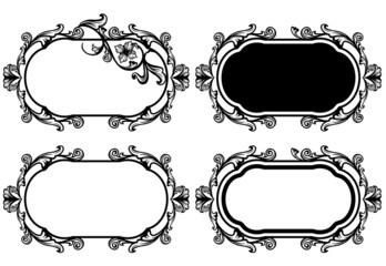 elegant floral frame design set