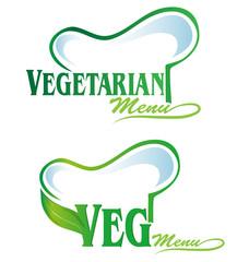 vegetarian and veg symbol menu